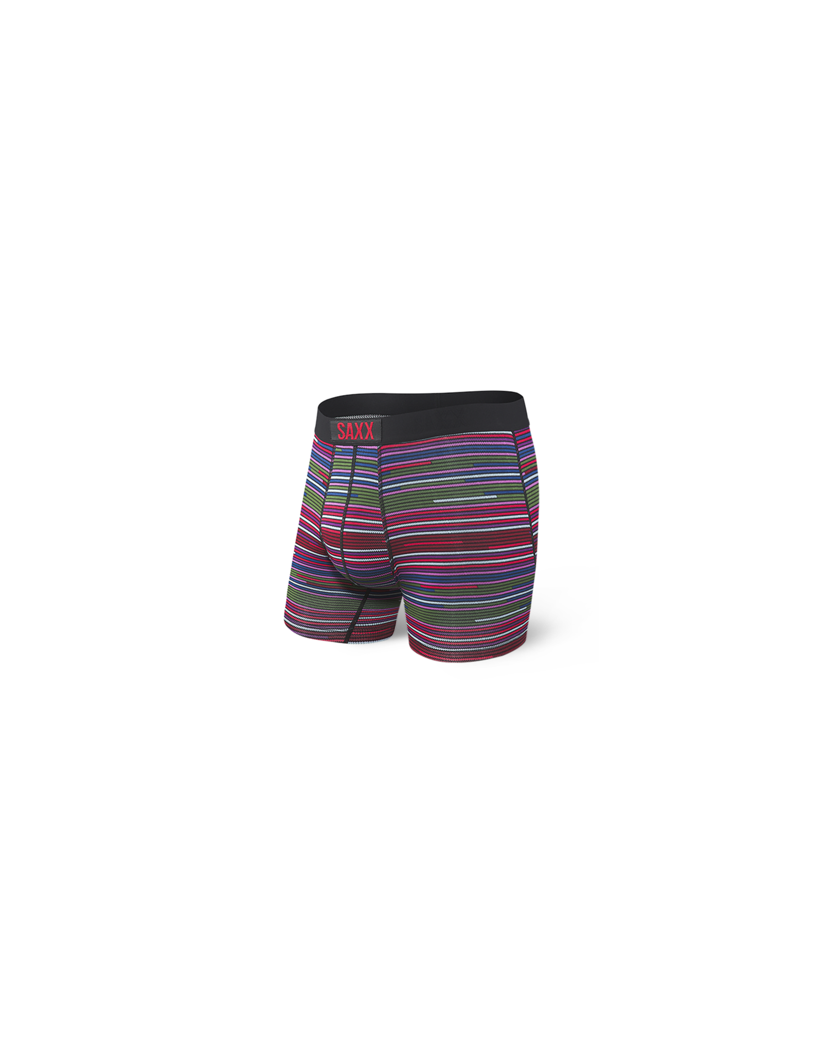 Saxx Saxx Vibe Boxer Brief - Red Serape Stripe