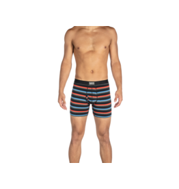 Saxx Saxx Ultra Boxer Brief Fly - Black Blurred Stripe