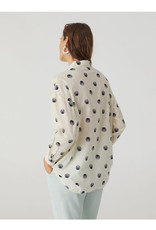 Nice Things Nice Things Hatching Dots Print Blouse