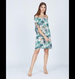 Pistache Bamboo Leaf Print Dress - XL ONLY