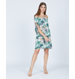 Pistache Bamboo Leaf Print Dress