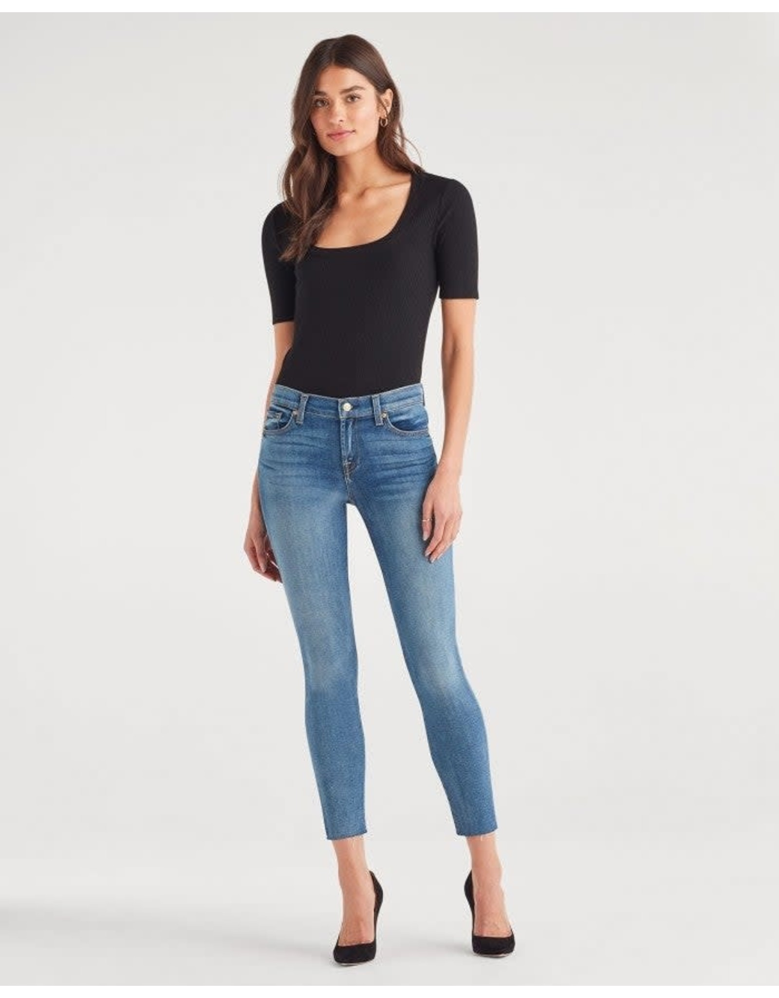 7 For All Mankind 7 For All Mankind The Ankle Skinny with Cut Off Hem