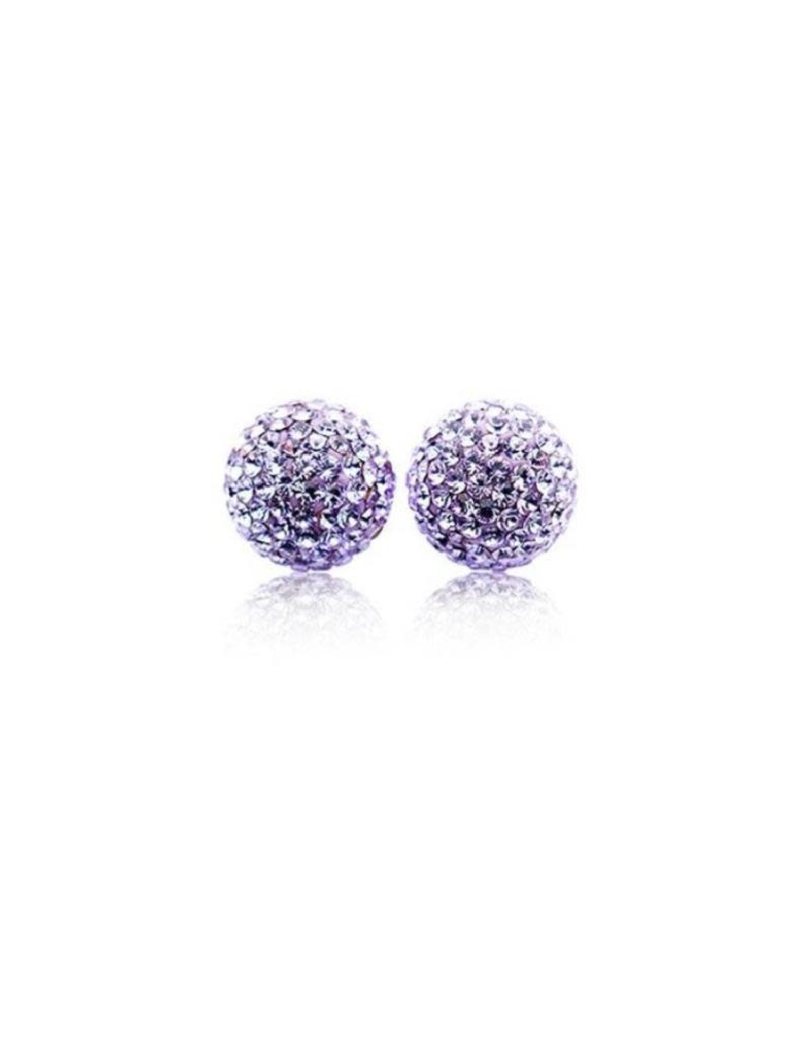 Hillberg & Berk Hillberg & Berk Violet 10mm Sparkleball Studs