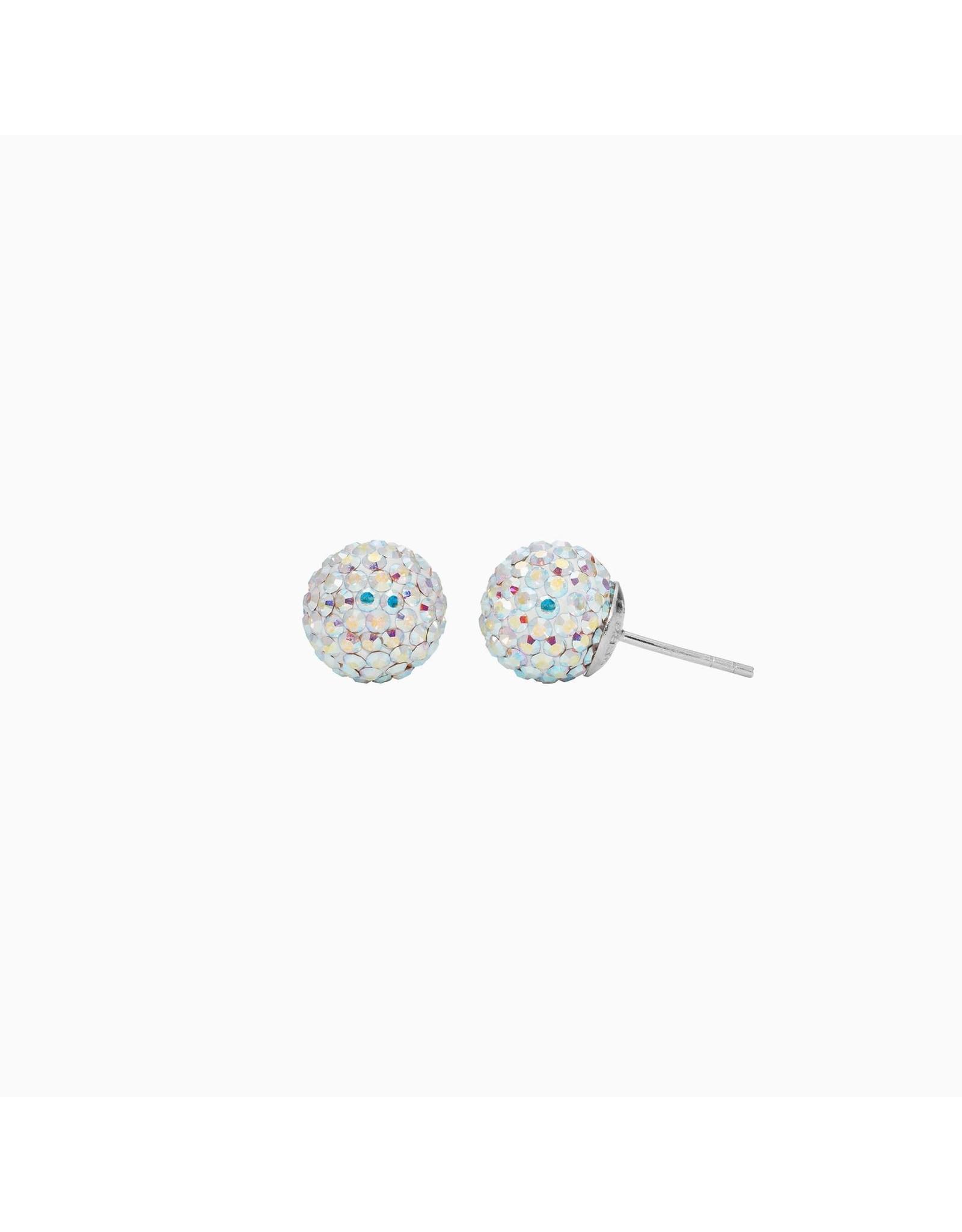 Hillberg & Berk Hillberg & Berk Aurora Borealis 10mm Sparkleball Studs