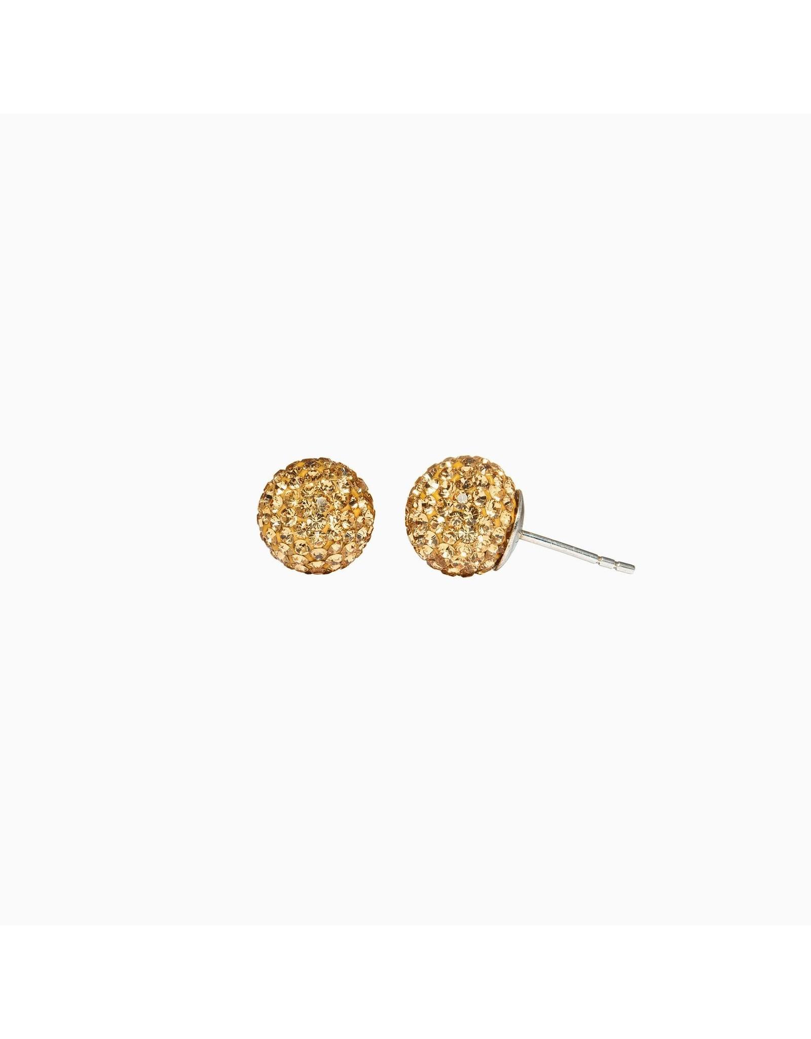 Hillberg & Berk Hillberg & Berk Gold 10mm Sparkleball Studs
