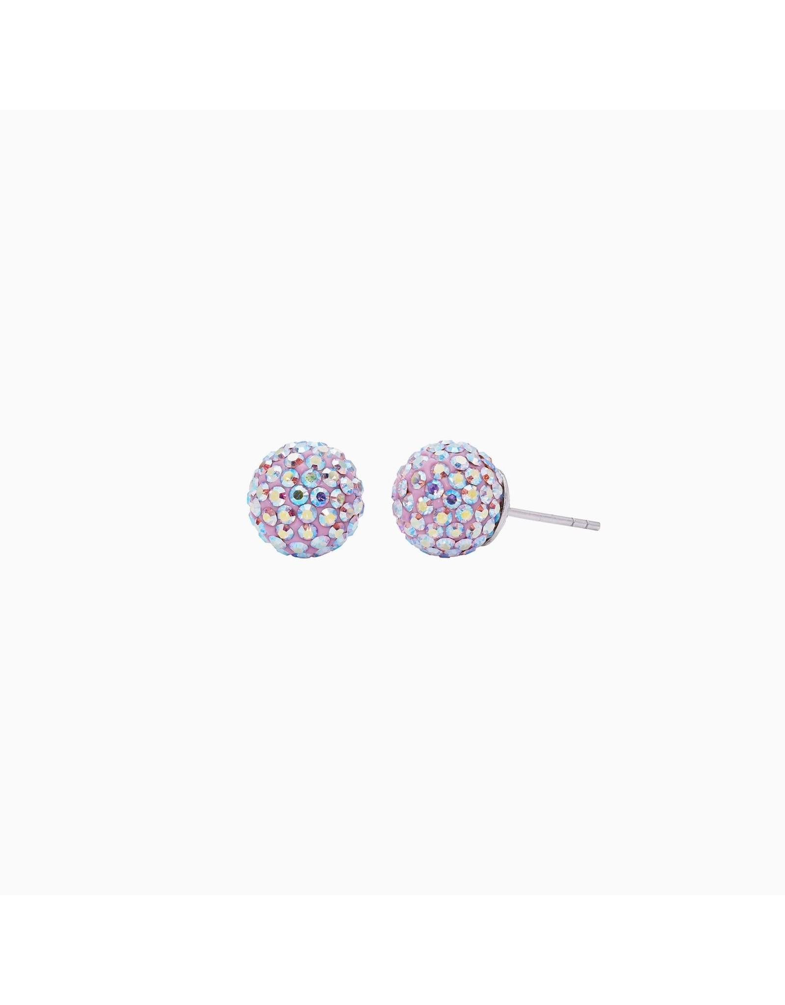 Hillberg & Berk Hillberg & Berk Lilac 10mm Sparkleball Studs