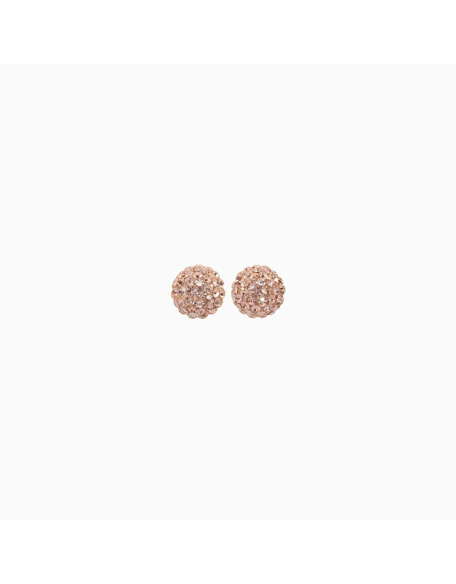 Hillberg & Berk Hillberg and Berk Rose Gold 8mm Sparkleball Stud