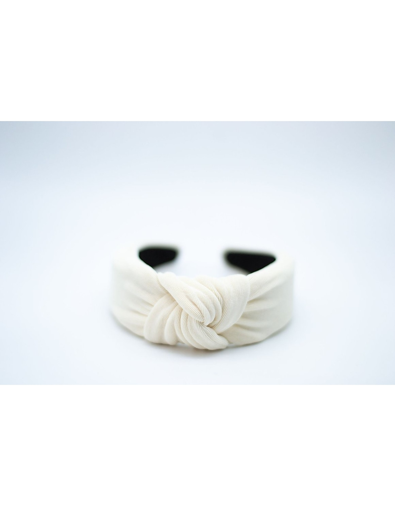 Femme Faire Textured Ivory Knotted Headband