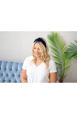 Femme Faire Textured Navy Knotted Headband