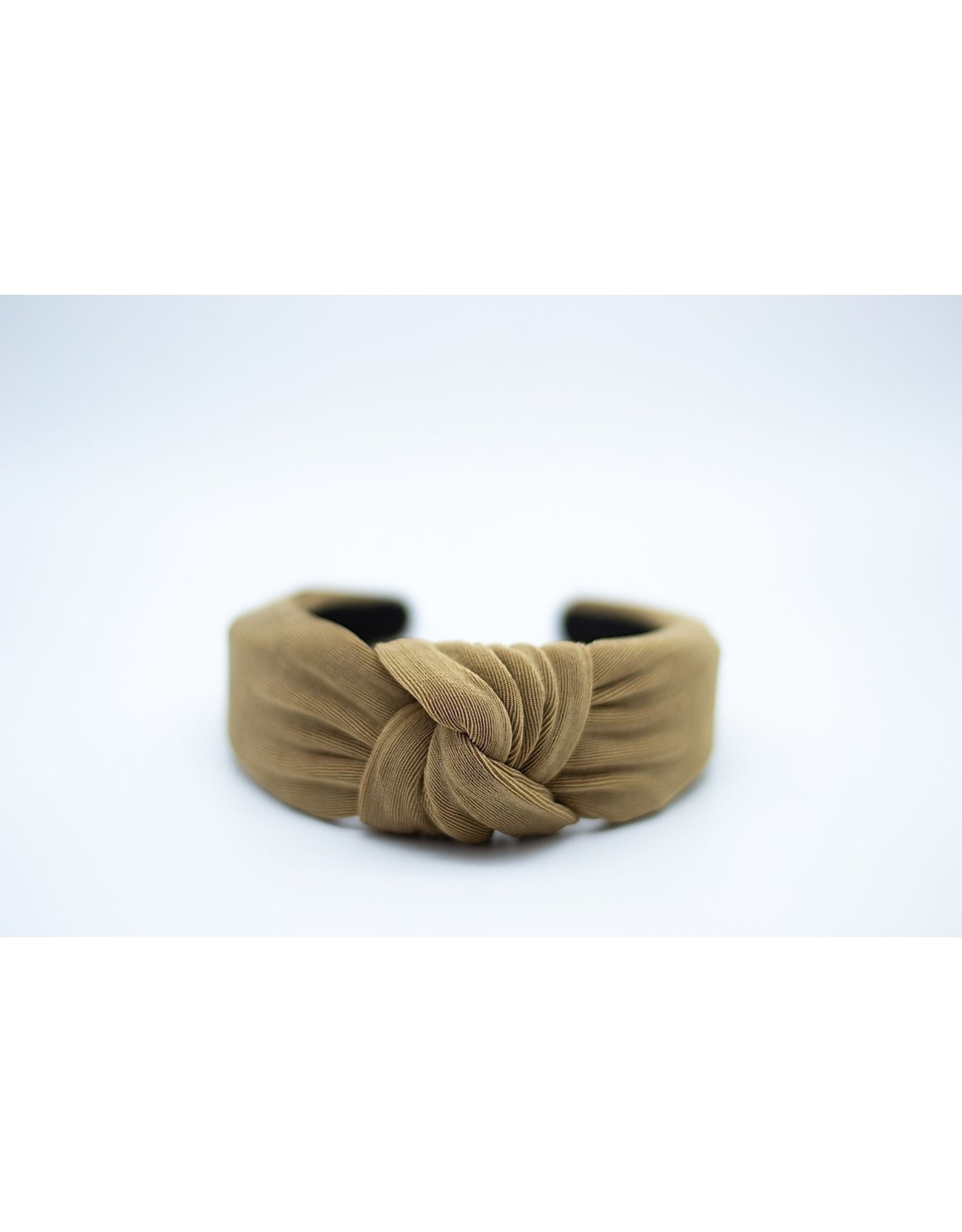 Femme Faire Textured Taupe Knotted Headband