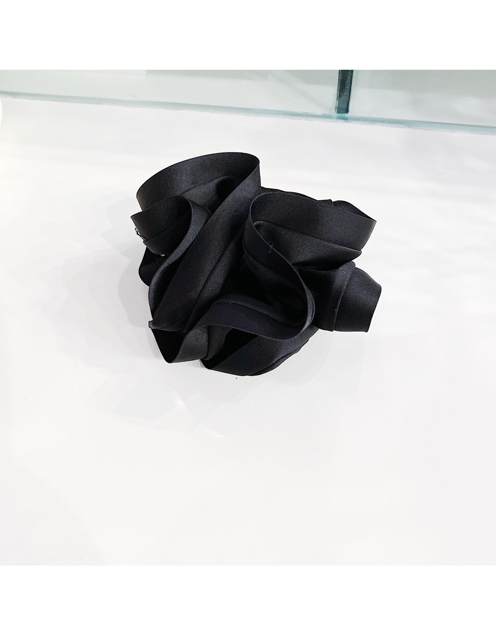 Limlim Satin Trim Scrunchie - Black