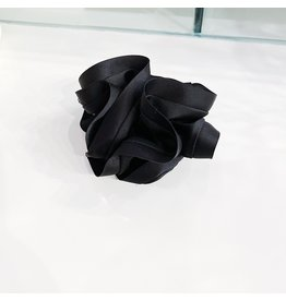 Limlim Satin Trim Scrunchie - Black
