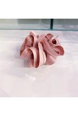 Limlim Satin Trim Scrunchie - Pink