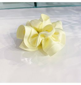 Limlim Satin Trim Scrunchie - Yellow