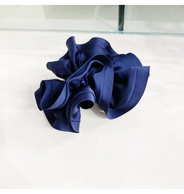 Limlim Satin Trim Scrunchie - Navy