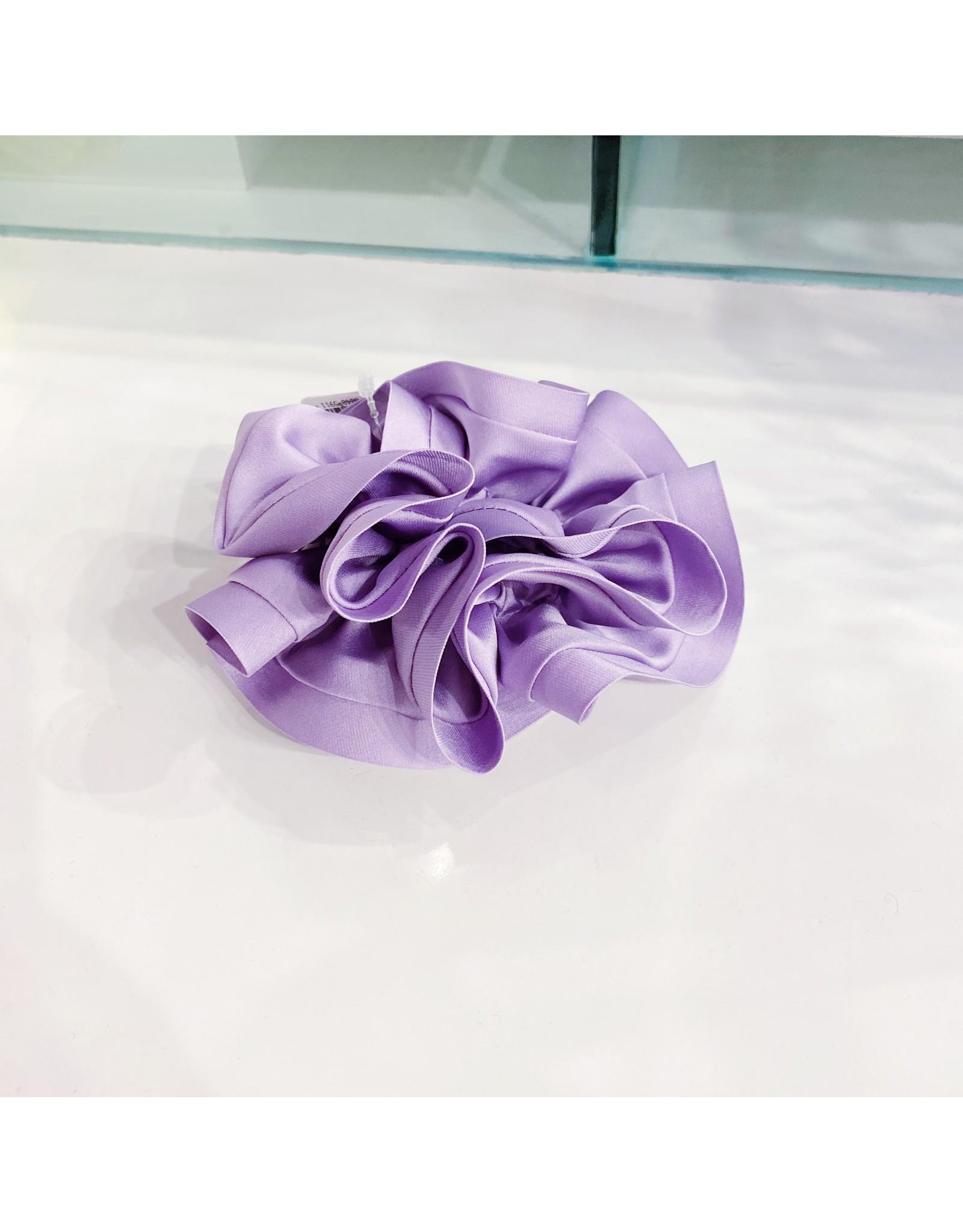 Limlim Satin Trim Scrunchie - Violet