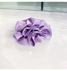Limlim Satin Trim Scrunchie - Violet