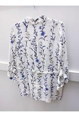 Pistache Floral Print Jacket - SMALL