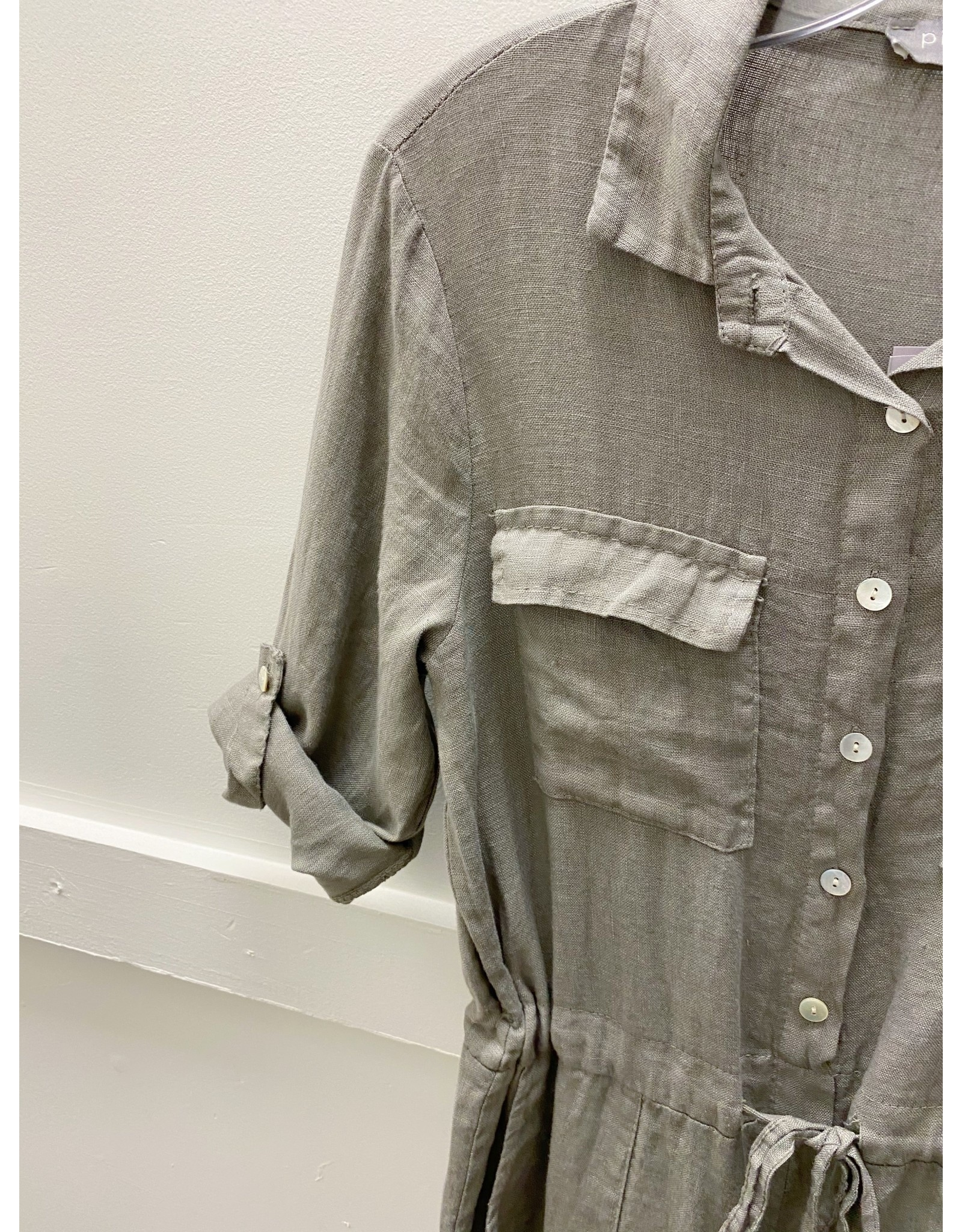 Pistache Linen Jumpsuit