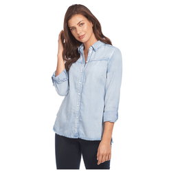 French Dressing Jeans French Dressing Jeans Linen Blend Chambray Blouse