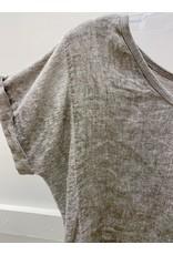 Pistache Linen Woven Knit Top