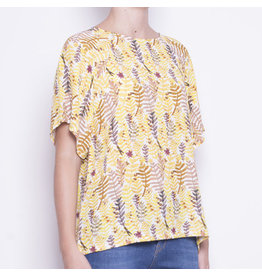 Pan Pan Fern Print Blouse
