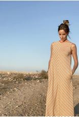 Pan Pan Striped Midi Dress
