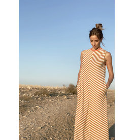 Pan Pan Striped Midi Dress - XL ONLY