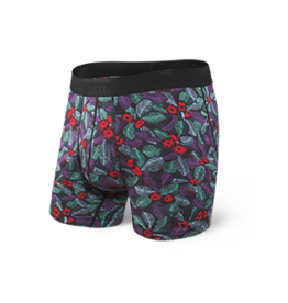 Saxx Saxx Platinum Boxer Brief Fly - Blue Scattered Leaf