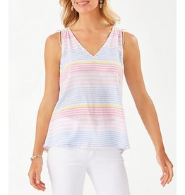 Tommy Bahama Harbour Stripe Shell - XS ONLY