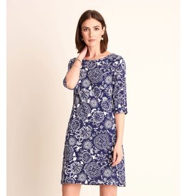 Hatley Lucy Dress - Navy Mandala Flowers