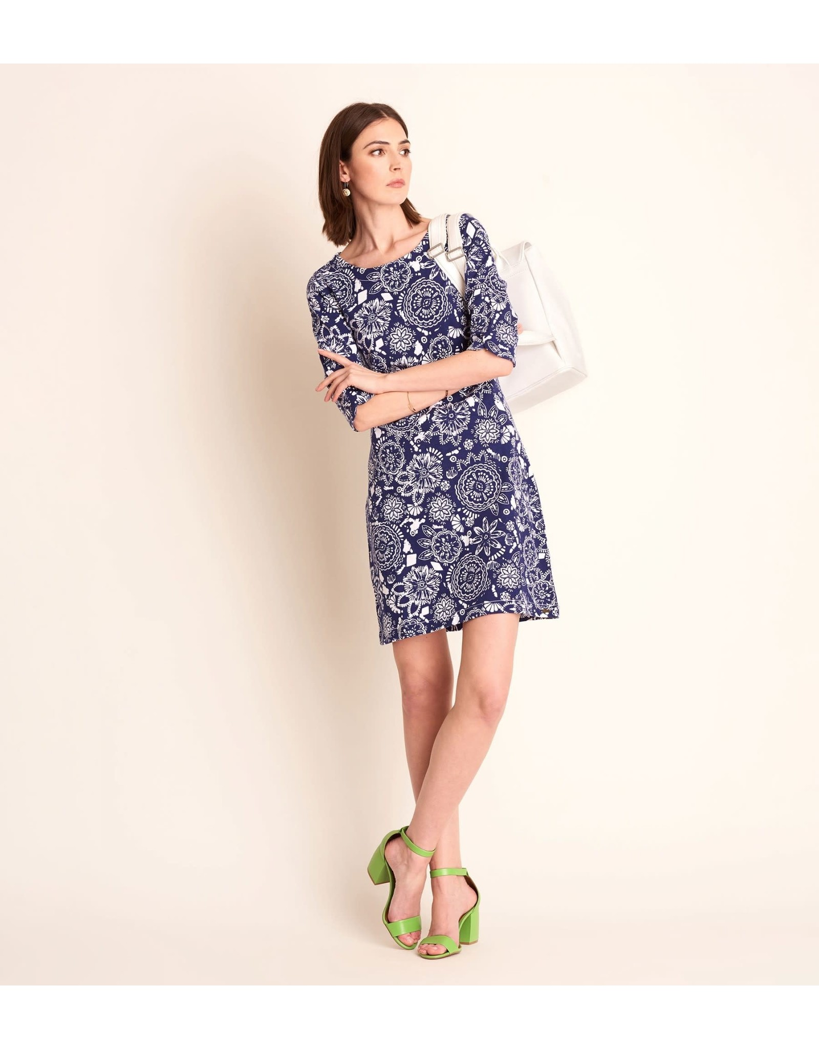 Hatley Lucy Dress - Navy Mandala Flowers