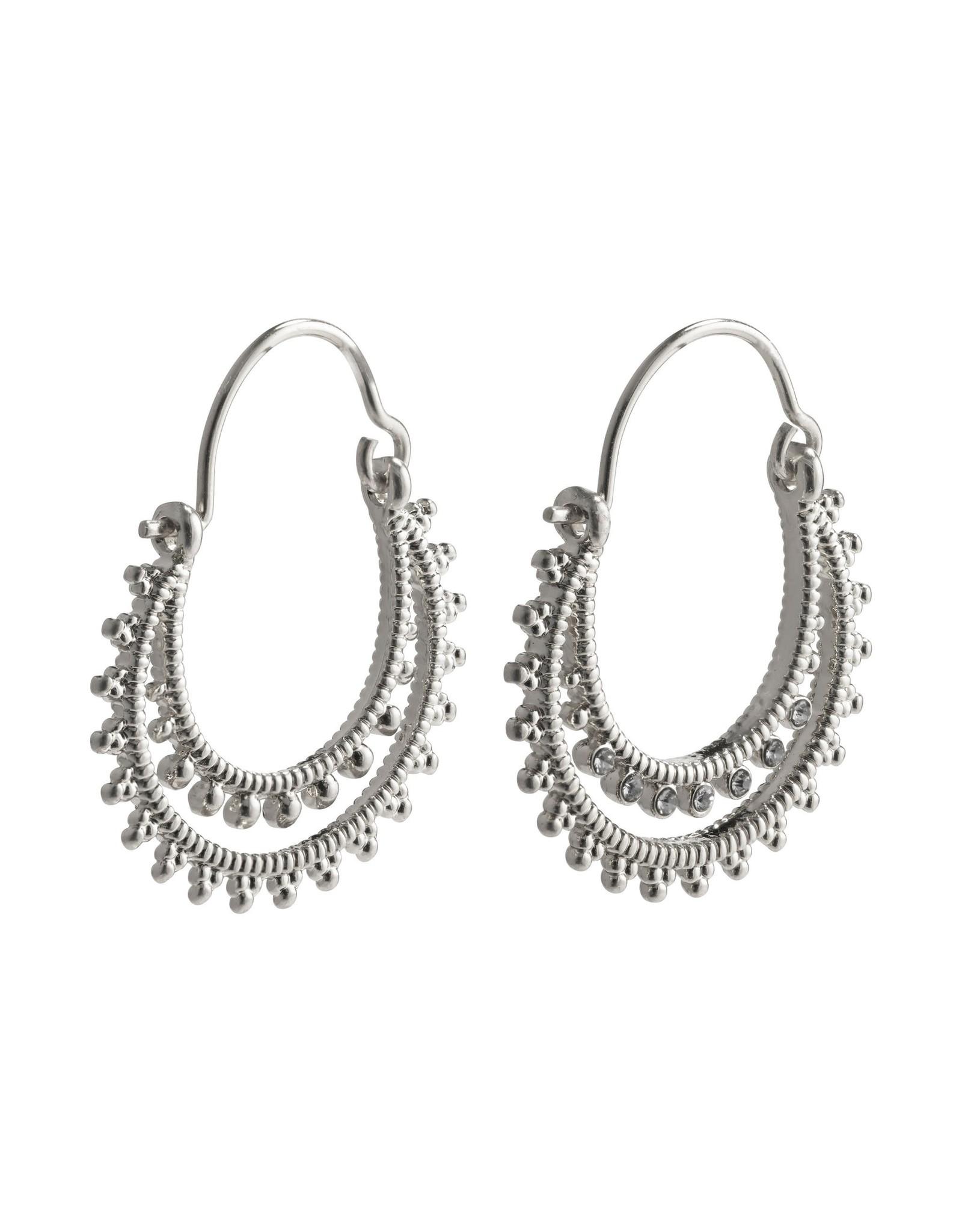 Pilgrim Pilgrim Signe Earrings Silver Plated
