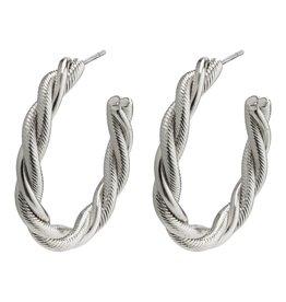 Pilgrim Pilgrim Baya Earrings Silver Plated