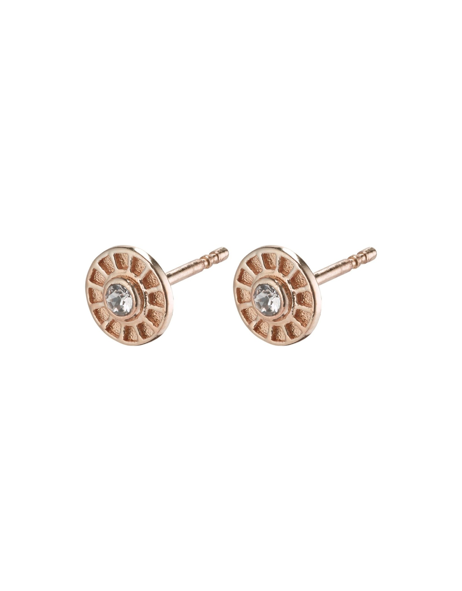 Pilgrim Pilgrim Fia Earrings Rose Gold Plated Crystal