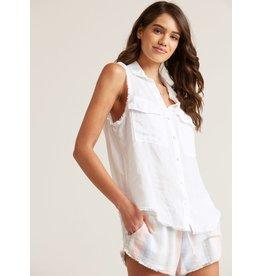 Bella Dahl Bella Dahl Linen Sleeveless Flap Pocket Shirt