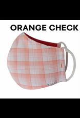 French Dressing Jeans French Dressing Jeans Face Mask - Orange Check
