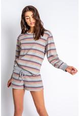 PJ Salvage PJ Salvage Retro Revival Stripes LS Top + Shorts