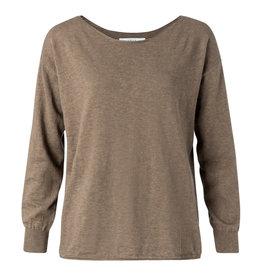Yaya Yaya Cotton Cashmere Boatneck Sweater