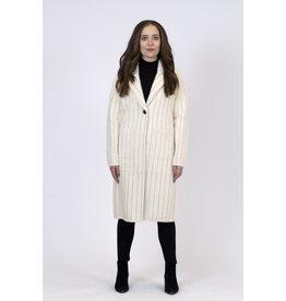 Lyla & Luxe Ava Pinstripe Knit Coat