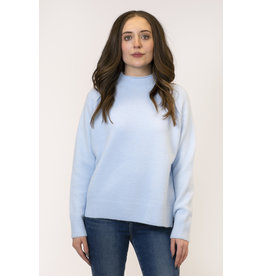 Lyla & Luxe Sam Mockneck Raised Seam Sweater