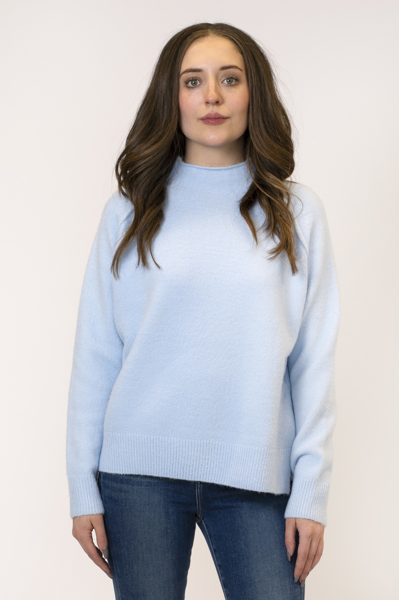 Lyla Luxe Sam Mockneck Raised Seam Sweater Grace The Boutique Grace The Boutique