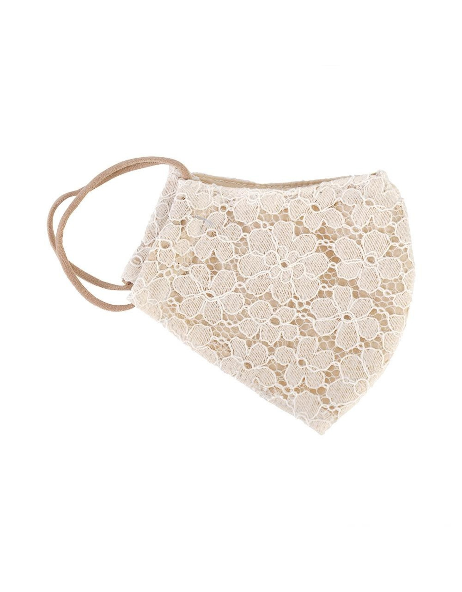 Limlim Lace Face Mask Ivory