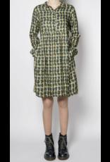 Pan Pan Collared Print Dress