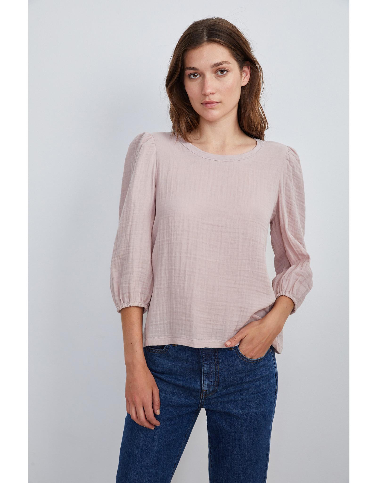 Velvet Velvet Reeba Cotton Slub Peasant Top