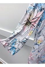 French Dressing Jeans French Dressing Jeans Silver Floral Print Pleat Detail