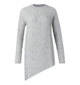 Yaya Yaya Asymmetric Mixed Rib Sweater