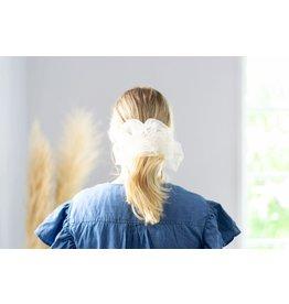 Femme Faire Tulle Cloud Scrunchie - Ivory