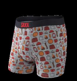Saxx Saxx Ultra Boxer Brief Fly - Grey Heather Lumberjack