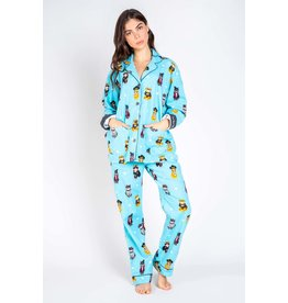 PJ Salvage PJ Salvage Cool Cats Flannel PJ Set
